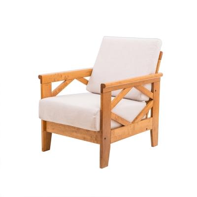 日木家居 Teddy泰得實木單人沙發