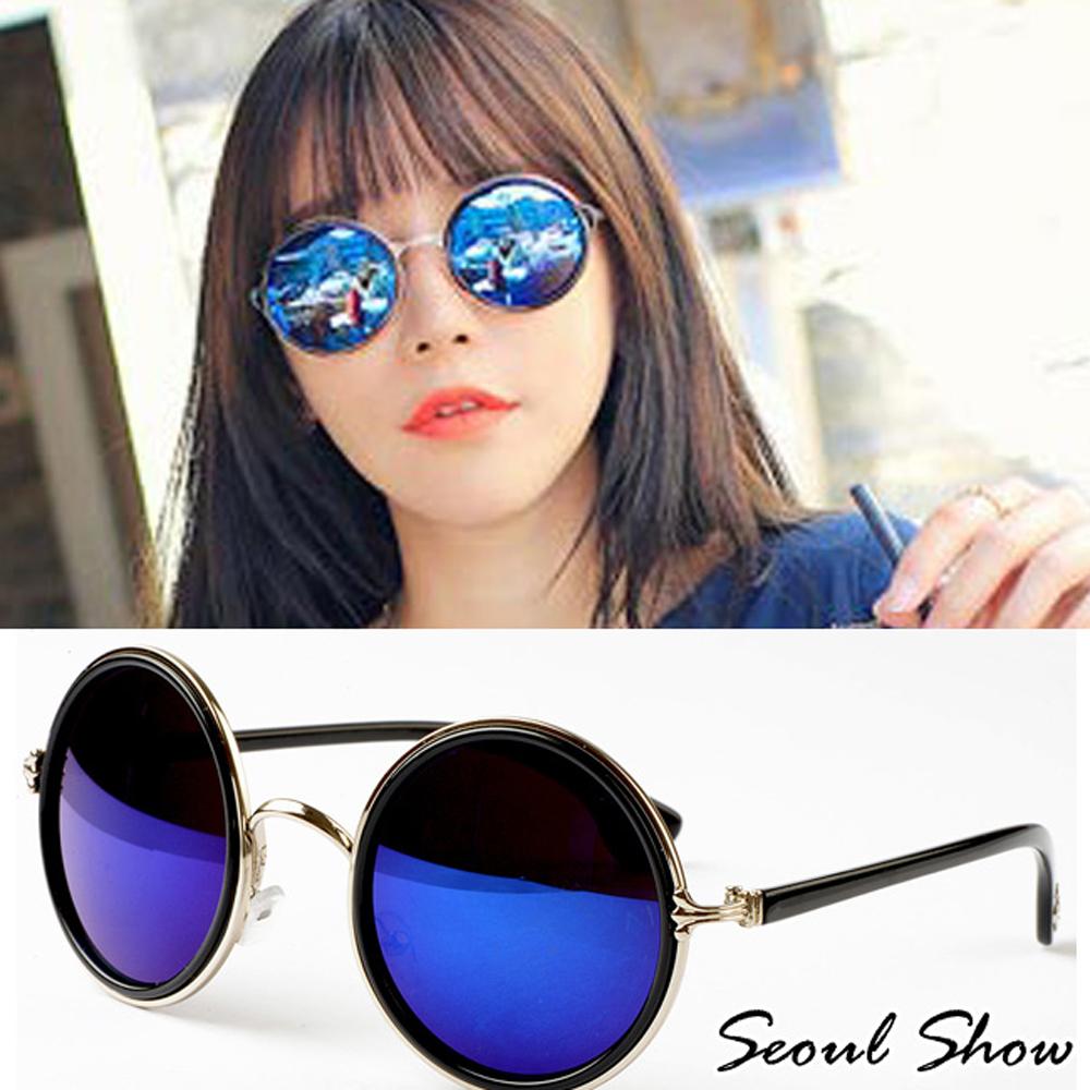 Seoul Show 復刻幻影 金屬圓框太陽眼鏡 1315 幻影藍