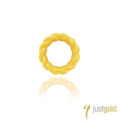 鎮金店Just Gold 環繞愛系列(純金)-黃金耳環(單耳)