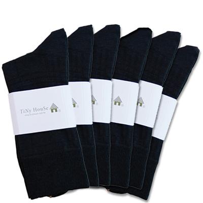TiNyHouSe舒適襪 紳士襪 厚底船襪(任選6件)