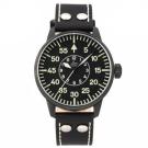 Laco朗坤 Bielefeld 夜光飛行機械腕錶-黑/42mm 861760