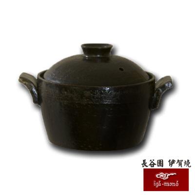 日本長谷園伊賀燒 電鍋造型小砂鍋(黑)