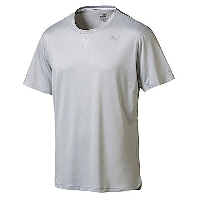 PUMA-男性慢跑系列OceanRun短袖T恤-石頭灰-歐規