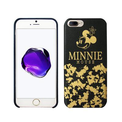 迪士尼授權 經典剪影 iPhone 8 Plus/ 7 Plus 燙金皮革手機殼...
