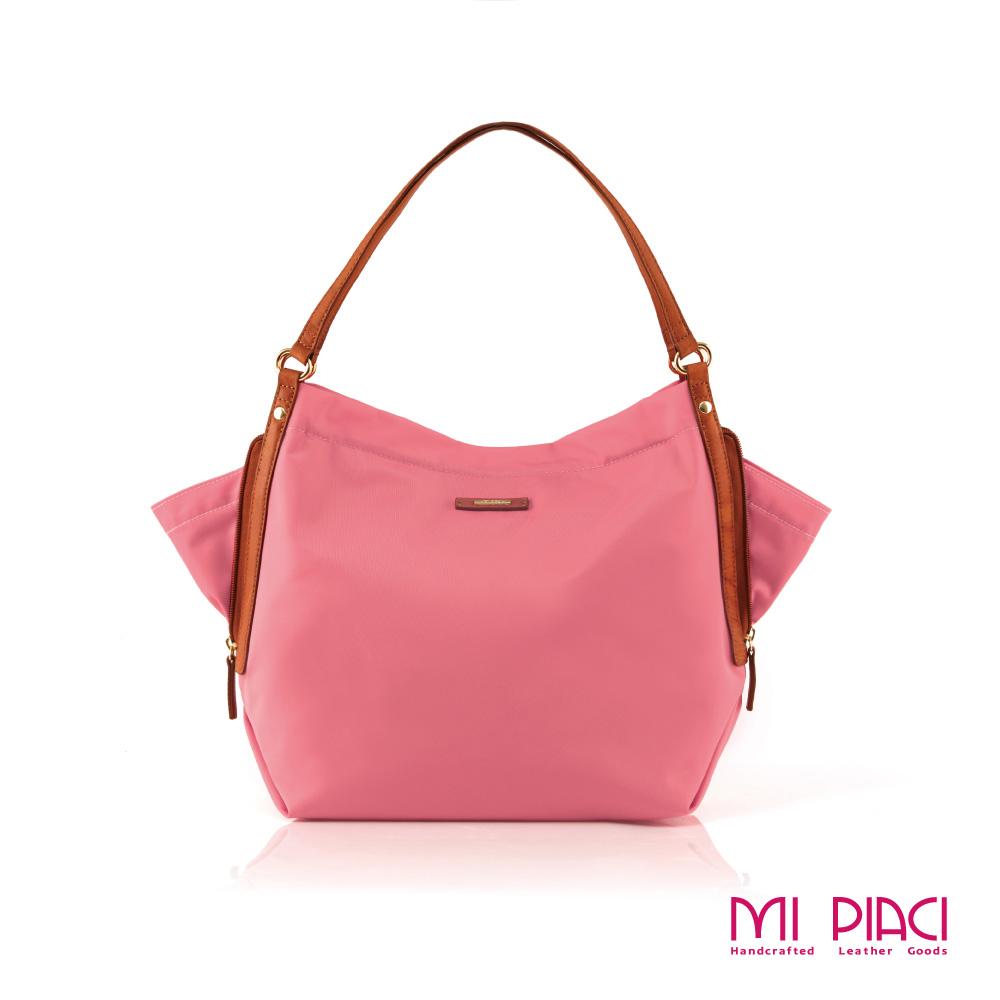 Mi Piaci革物心語-彩蝶圓舞曲Butterfly Bag蝴蝶包-粉紅色