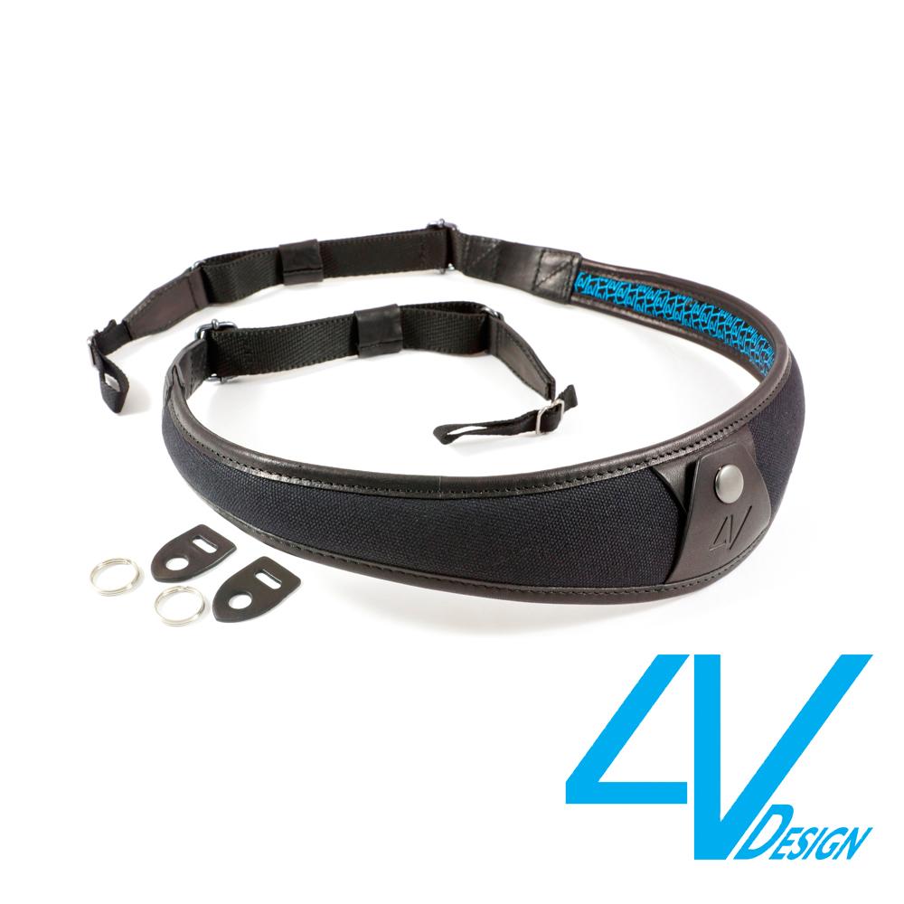 4V ALA系列相機背帶 LU-CV0909-黑/黑色(L)