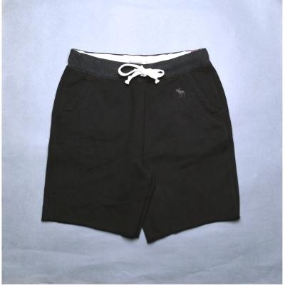 A&F Abercrombie & Fitch 運動休閒棉短褲 -黑