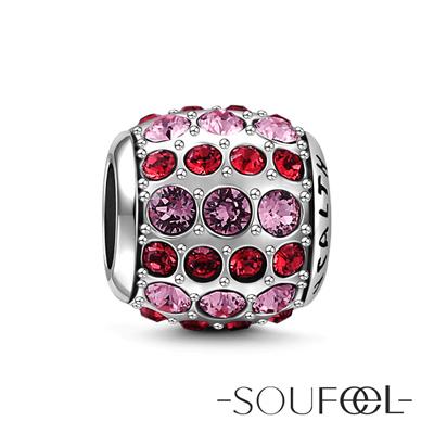 SOUFEEL索菲爾 925純銀珠飾 健康石(粉紅) 串珠