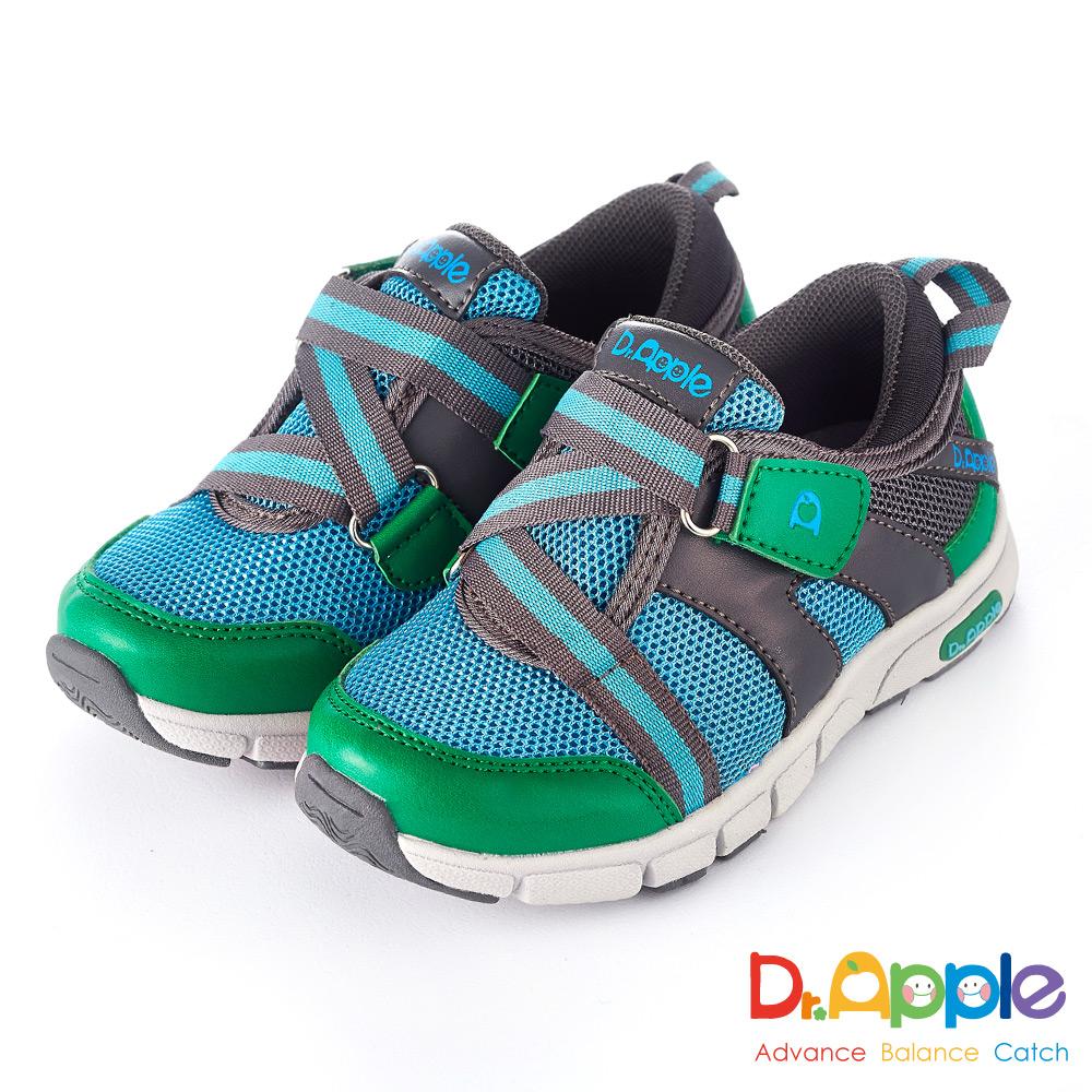 Dr. Apple 機能童鞋 個性輕量透氣休閒童鞋款  綠