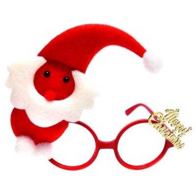 摩達客 聖誕派對造型眼鏡-紅白精靈小雪人