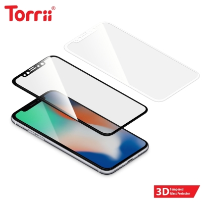 Torrii iPhoneX 3D玻璃保護貼(BODYGLASS/黑)