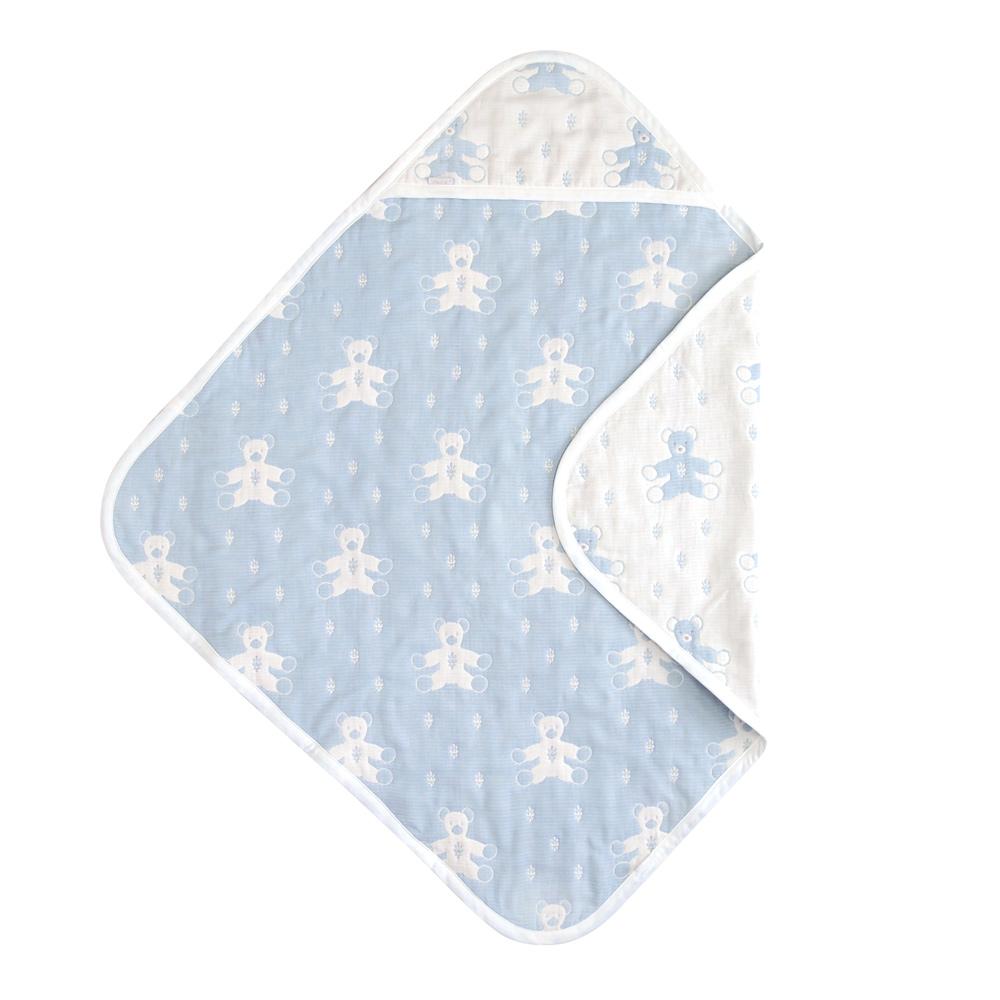 SOULEIADO 六層紗普羅旺斯熊包巾(水藍)