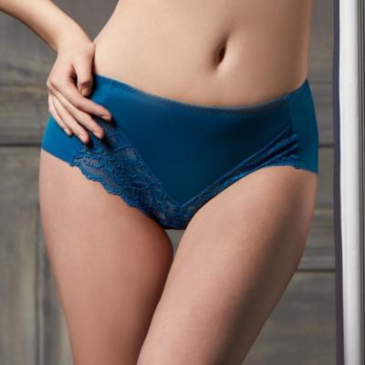 可蘭霓Clany 輕舒蕾絲柔感無痕L-XL內褲 閃耀藍