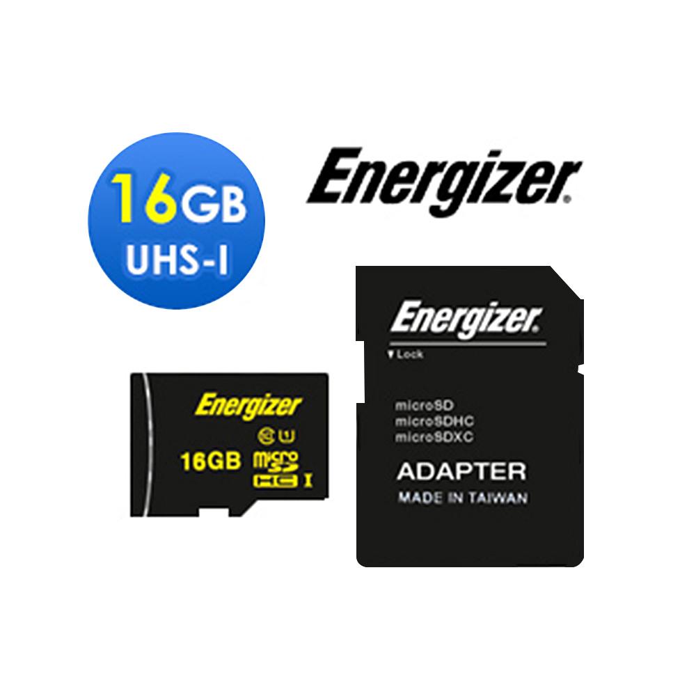 Energizer 勁量 16GB UHS-I microSDHC 高速記憶卡 (含轉卡)