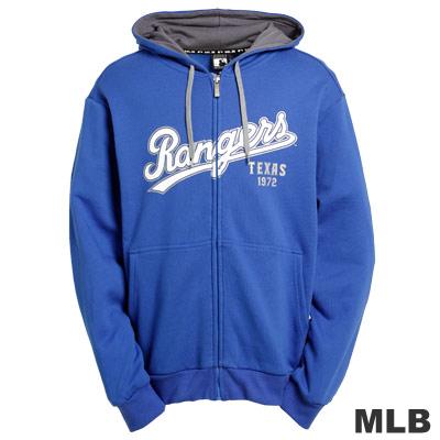 MLB-德州遊騎兵隊厚棉連帽外套-藍(男)