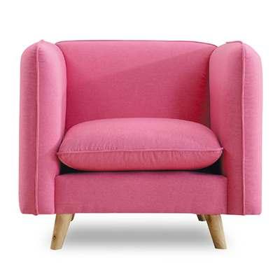 時尚屋-愛葛莎單人座粉紅色沙發