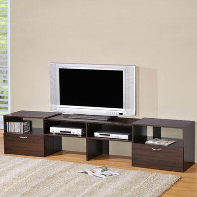 LOGIS 自由設計時尚伸縮電視櫃(兩色)寬120-230*高48*深42(CM)
