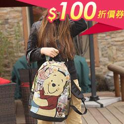 可愛熊雙肩包後背包女包