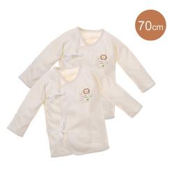 小獅王辛巴 大地系有機棉反袖肚衣2件組(較大)