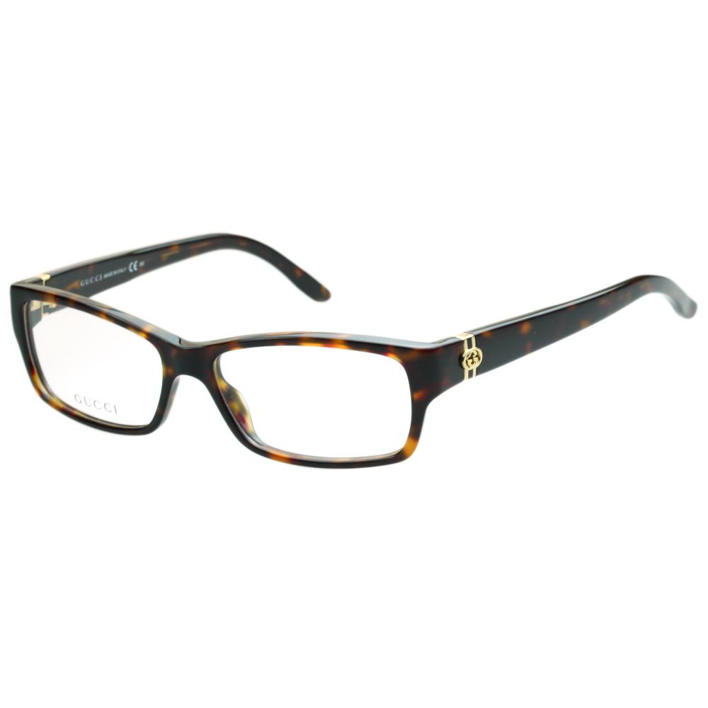 GUCCI-時尚光學眼鏡(琥珀色)