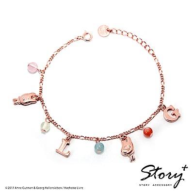 STORY故事銀飾-麗莎和卡斯柏-天然寶石純銀手鍊(玫瑰金)