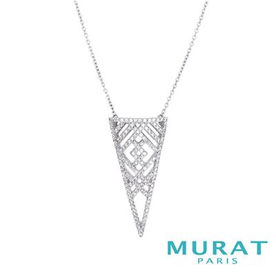 MURAT PARIS米哈巴黎 摩登線條三角項鍊
