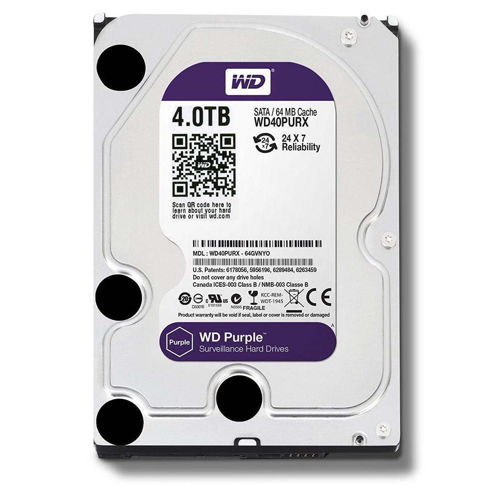WD 紫標 4TB 3.5吋監控系統硬碟(40PURZ)