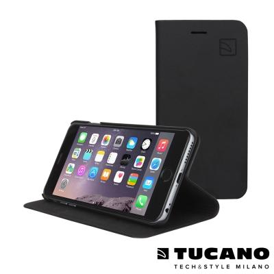 TUCANO iPhone6 Plus (5.5吋) 經典皮革側掀可站立式皮套