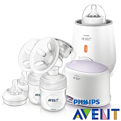 PHILIPS AVENT輕乳感PP專業型雙邊電動吸乳器+快速食品加熱器
