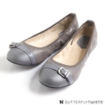 BUTTERFLY TWISTS-ELLA可折疊扭轉芭蕾舞鞋-尊榮灰