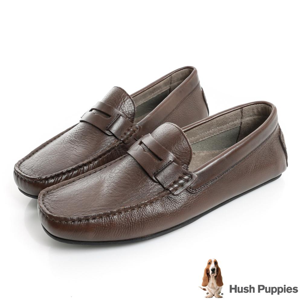 Hush Puppies VASTUS 柔軟開車鞋-咖啡色