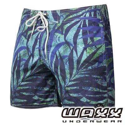 WAXX 熱帶系列-原始雨林吸濕排汗男性海灘褲(15吋)
