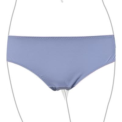 推Audrey-零著俏挺 中低腰三角褲(藍灰色)
