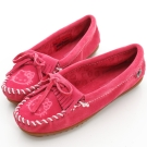 MINNETONKA KITTY聯名 粉紅色 莫卡辛平底鞋 (展示品)