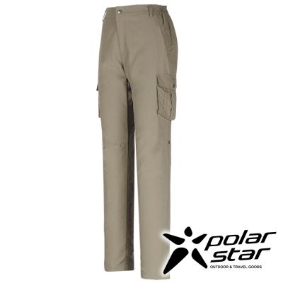 PolarStar 女 抗UV排汗快乾長褲 工作褲(多口袋)『卡其』P16346