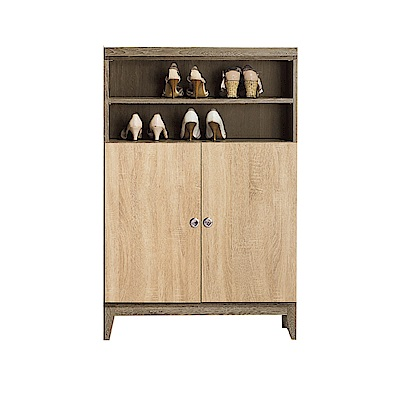 品家居  亞希伯2.7尺橡木紋二門鞋櫃-80.3x31.8x122.3cm免組
