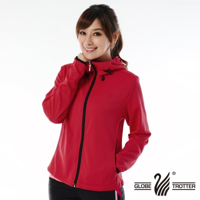 【遊遍天下】MIT台灣製女款抗UV吸排機能連帽外套112紅色