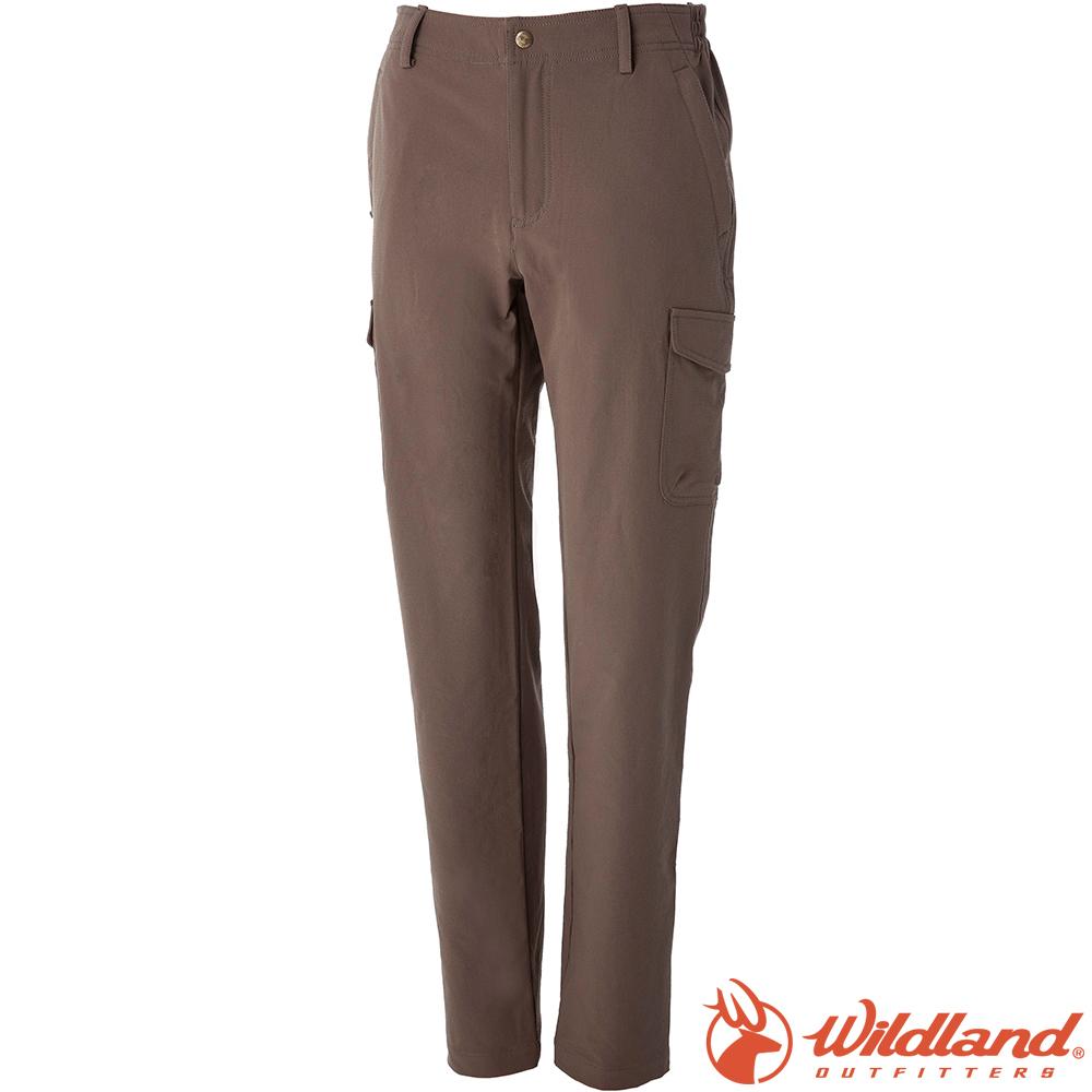 Wildland 荒野 0A52305-62黃卡其 女彈性貼袋保暖休閒褲