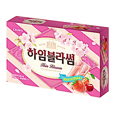 韓國Crown 草莓櫻桃威化(142g)