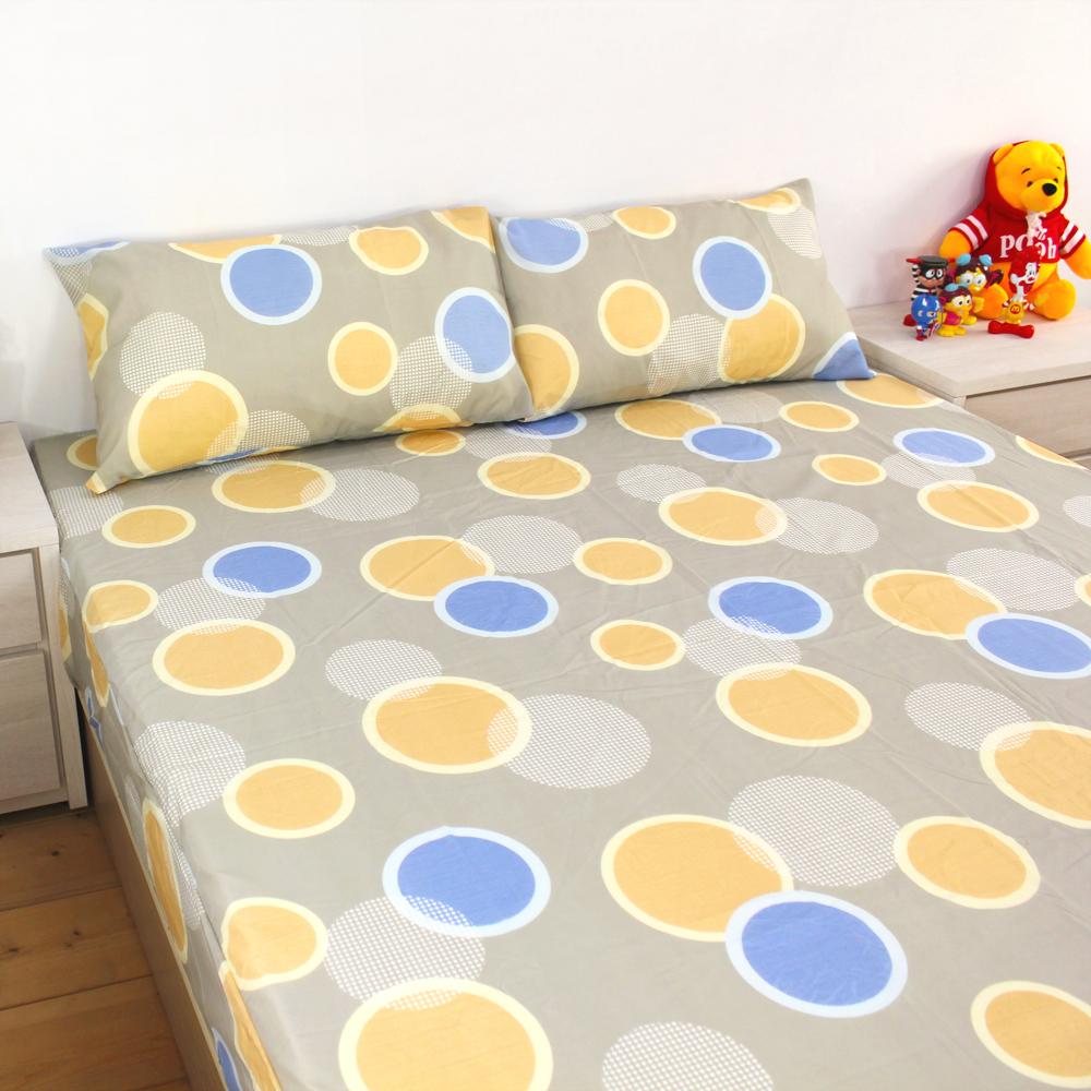 bedtime story 超細纖維薄床包枕套組_繡球花[灰]_雙人5尺