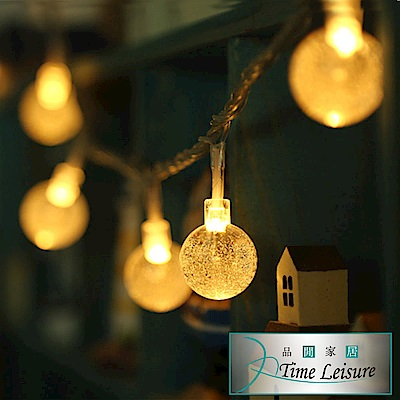 Time Leisure LED派對佈置/耶誕聖誕燈飾燈串(水晶燈/暖白/ 4 M)