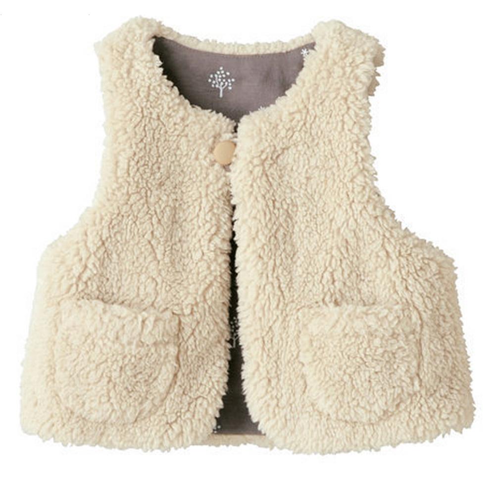 寶寶棉絨兩面穿保暖小背心小馬甲