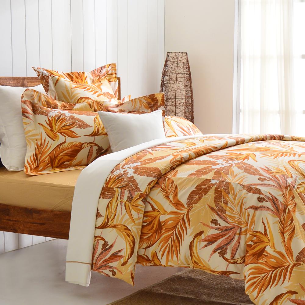 Cozy inn 天堂-咖 雙人四件組 300織精梳棉薄被套床包組