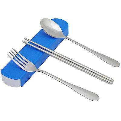 月陽 3件式加厚401不鏽鋼筷勺叉環保餐具