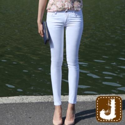正韓 顯瘦感低腰貼腿煙管褲-(共二色)100%Korea Jeans