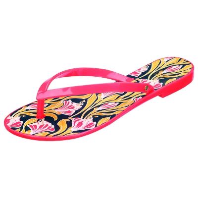 MELISSA +吳季剛合作款和風花繪夾腳鞋-紅