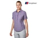 【Berghaus貝豪斯】女款銀離子抗菌除臭抗UV短袖襯衫S06F44紫