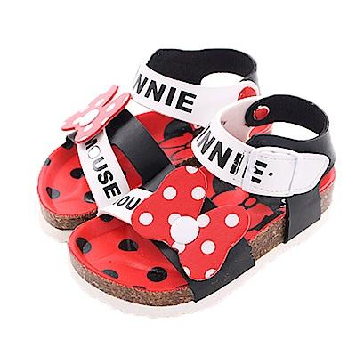 迪士尼米妮休閒涼鞋 黑紅 sk0423 魔法Baby