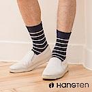 【HANG TEN】素色條紋長襪2雙入組(男)_深藍(HT-026-69)