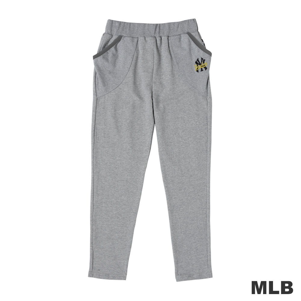 MLB-紐約洋基隊飛鼠式口袋設計運動長褲-麻灰(女)